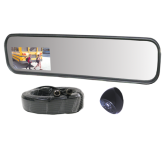 "Complete 10"" x 30"" Rearview Mirror/Monitor Kit w/Two (2) Cam. Inputs"