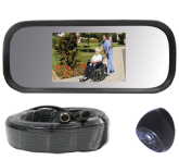 Rearview Mirror/Monitor Backup Camera System for Small Buses